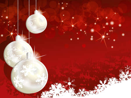 Red Christmas background for design Vector