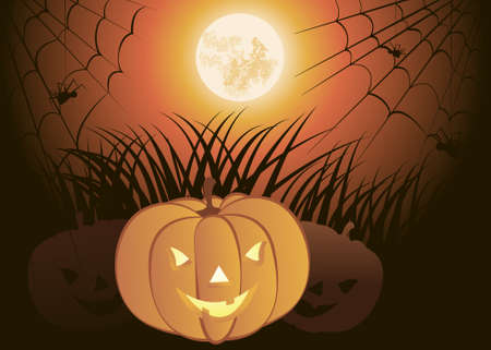 12 o'clock: Halloween Pumpkin Illustration