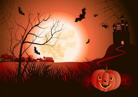 mansion: Halloween Illustration