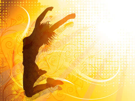Vector design of a woman jumping silhouette 矢量图像