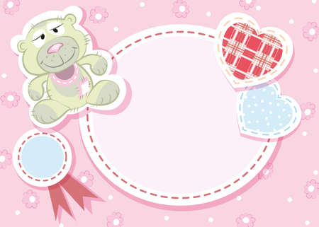 Baby arrival card - Teddy bear Stock Vector - 18455881