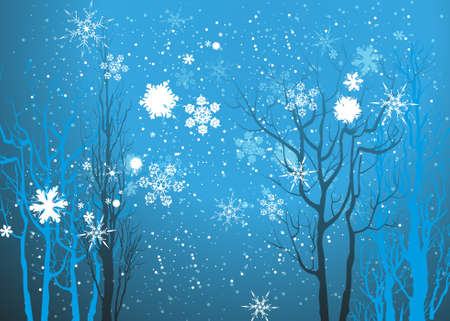 冬の背景  イラスト・ベクター素材