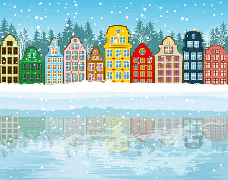 winter scene: Christmas background