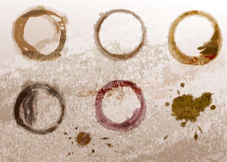 coffee stain: Coffee cup stain