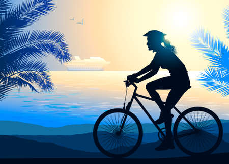 short trip: Cycling Illustration