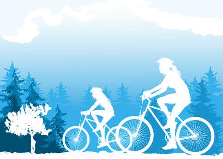 short break: Cycling Illustration
