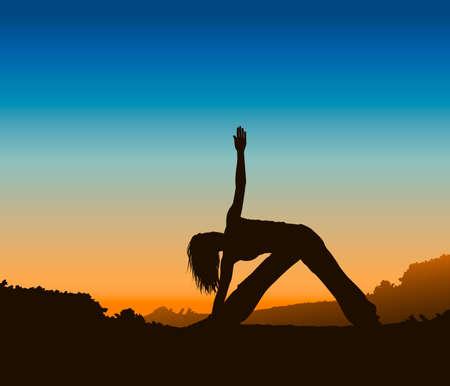 Yoga Silhouette Stock Vector - 18455876