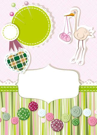 sewing pattern: card Illustration