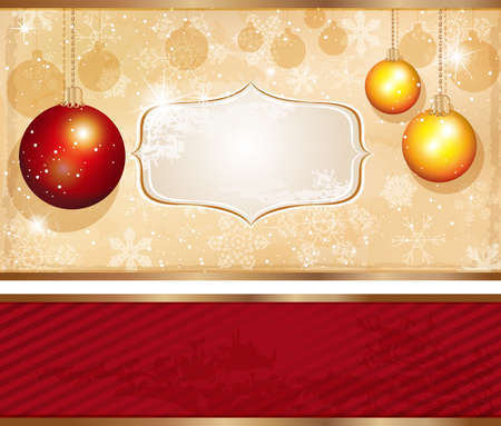 Merry Christmas Card Stock Vector - 18462277