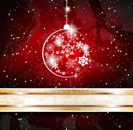 Background with christmas baubles Stock Vector - 18462278