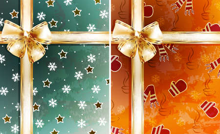 Christmas backgrounds with bows Stock Vector - 18466258
