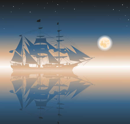 brigantine: pirates ship Illustration