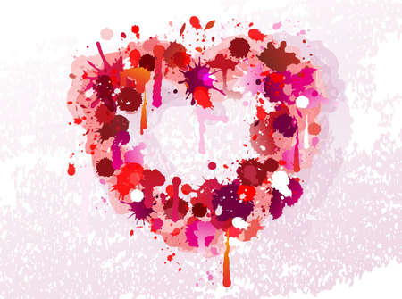Vector heart made of stains Stock Vector - 18462242