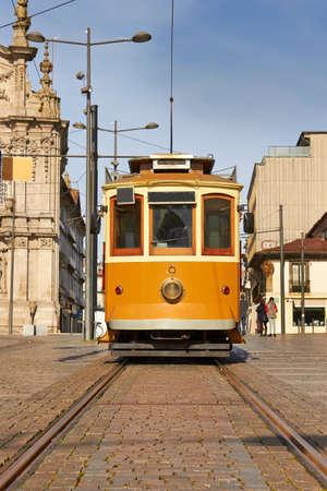 tram in front of Carmo Church (Igreja do Carmo), Porto, Portugal  Stock Photo - 18568282