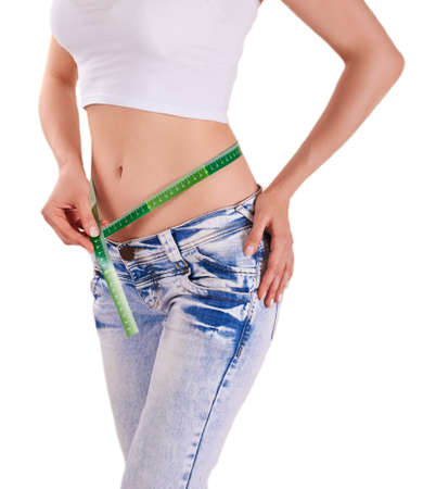 abdomens: Slim hips isolated- losing weight