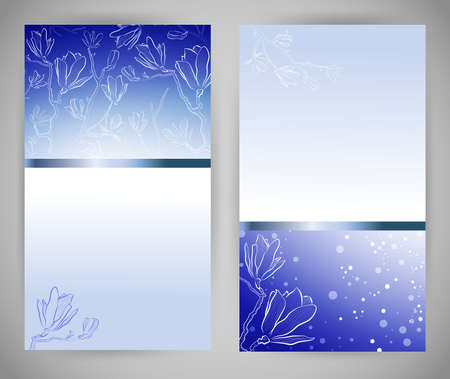Set of abstract blue banners Stock Vector - 18967280
