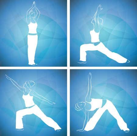 physical exercise: Yoga, pilates  Illustration