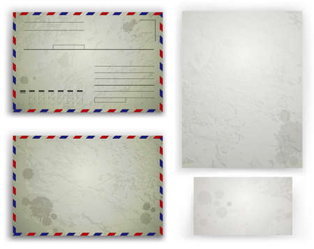 z fold: Vector collection of various blank white paper on white background
