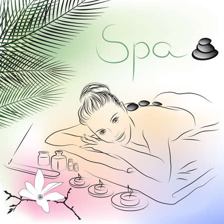 skincare facial: spa massage  Illustration