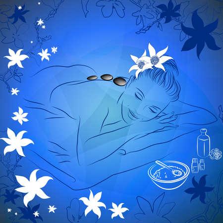 liggen voor spa massage
