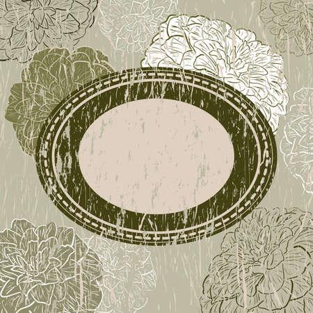 camellia: Vintage greeting card