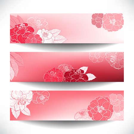 Bloemen banners Stock Illustratie