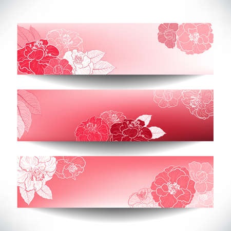 camellia:  Floral banners