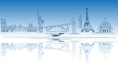 World tourist destination Illustration