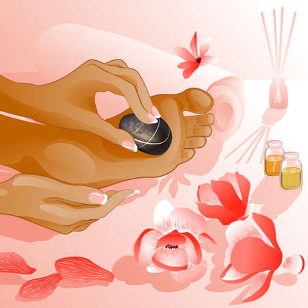 toenail: Foot massage, illustration Illustration