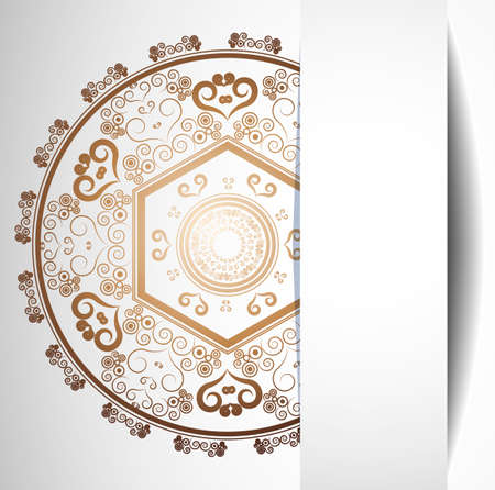 Gothic style: background with lace ornament  Illustration