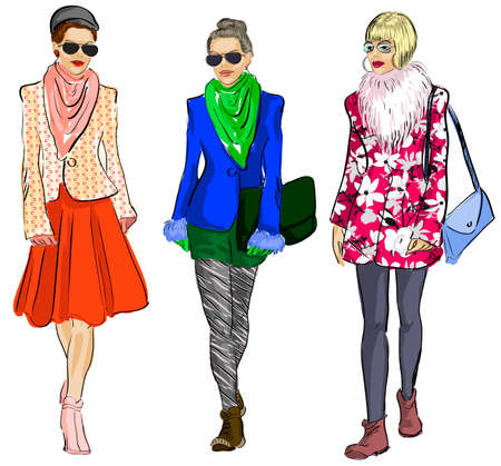 Fashion models  Illustration