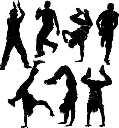 Bailando siluetas masculinas