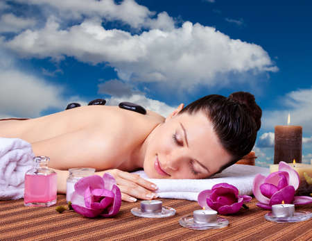 day spa: Spa  Stone Massage  Day Spa  Stock Photo