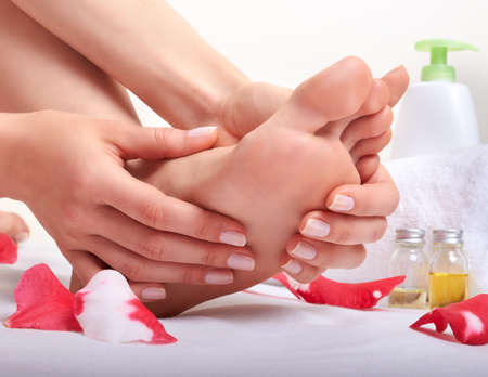 foot cream: Foot care and massage