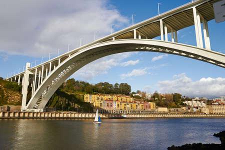 Porto and boat on Douro river  photo