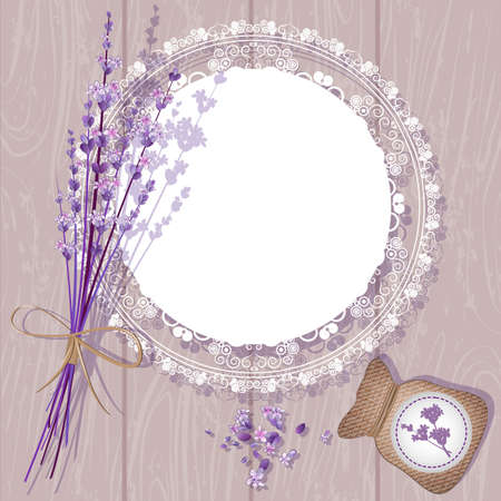 Vector Lavender Background  Vector