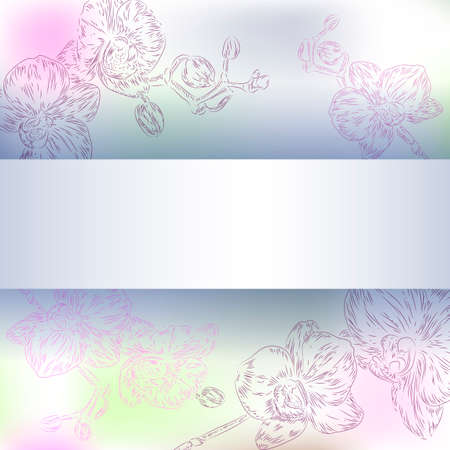 floral orchid background Vector