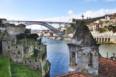 douro: Old houses in Porto, Portugal  Stock Photo