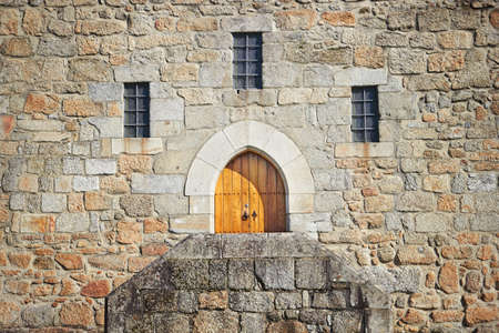 guimaraes: Ancient castle door at the Palace of the Dukes of Braganza, Guimaraes, Portugal