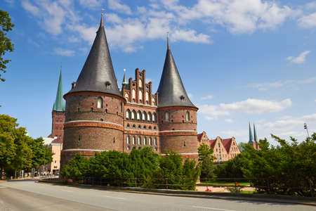 Holstentor in Lubeck, Germany  Archivio Fotografico