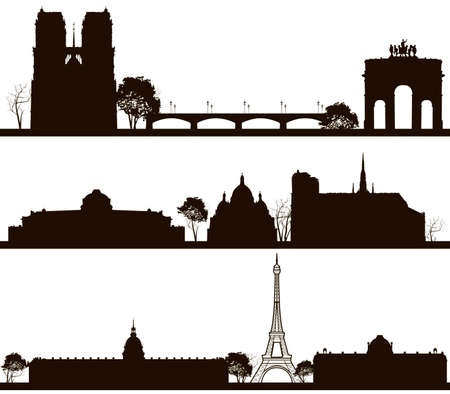 paris skyline: Vector illustration of Paris skyline
