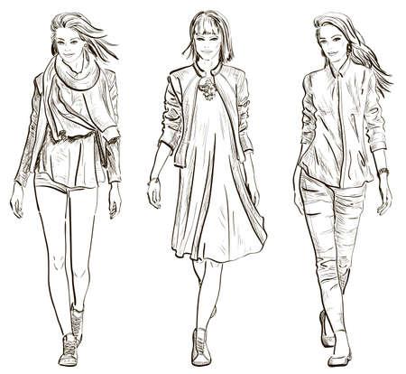 models: Fashion models Illustration