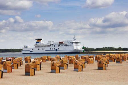 baltic sea: cruise liner in Travemunde, Germany Editorial