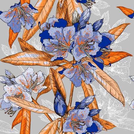 oleander: Seamless pattern with Oleander flower