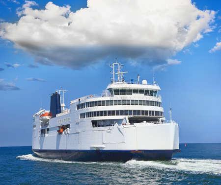 ferry boat in open sea