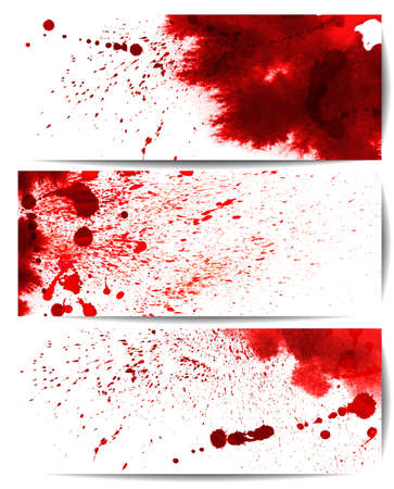 drop of blood: Set of backgrounds with eight highly detailed bloodstain