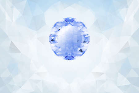 topaz: Vector Light background with blue glowing gemstone