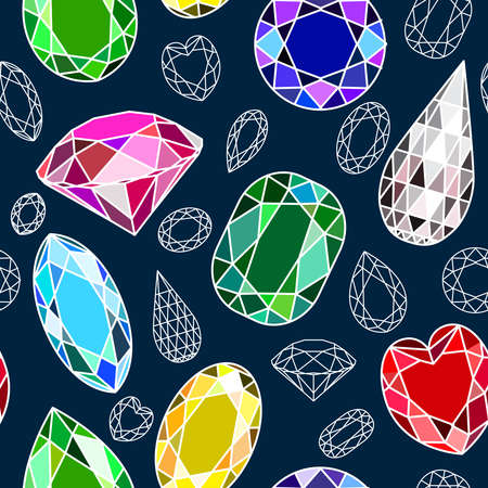 dearly: Vector seamless pattern with diamonds