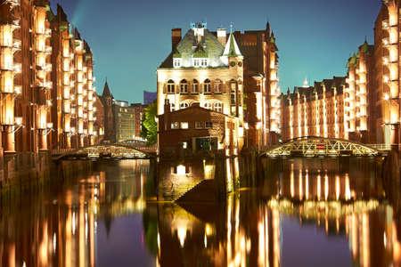 Hamburg- Speicherstadt, Germany Standard-Bild