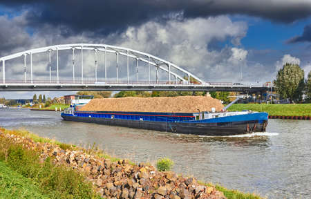 barge: Barge on the Amsterdam - Rhine Canal